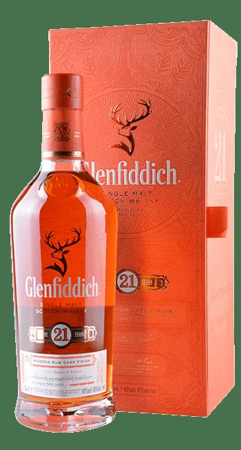 Glenfiddich - 21 Years - Reserva Rum Cask Finish - Single Malt Scotch Whisky - 0,7 Liter | Glenfiddich | Schottland