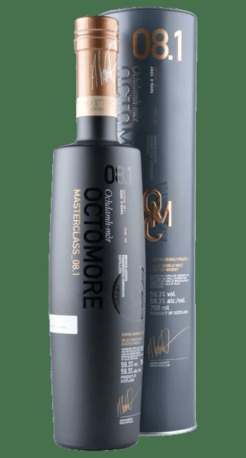 Octomore 08.1 - 167 ppm - Masterclass - 8 Years -  Islay Single Malt Scotch Whisky - 0,7 Liter   Bruichladdich   Schottland
