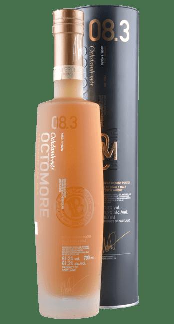 Octomore 08.3 - 309 ppm - Masterclass - 5 Years -  Islay Single Malt Scotch Whisky - 0,7 Liter   Bruichladdich   Schottland