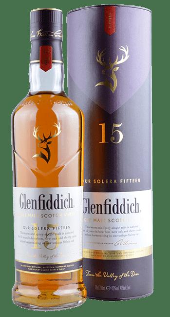 Glenfiddich - 15 Years - Unique Solera Reserve - Single Malt Scotch Whisky - 0,7 Liter   Glenfiddich   Schottland