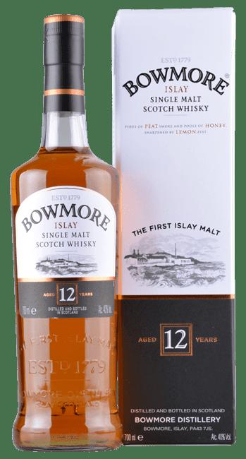 Bowmore - 12 Years -  Islay Single Malt Scotch Whisky - 0,7 Liter   Bowmore Distillery   Schottland