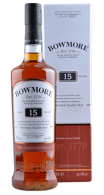 Bowmore - 15 Years -  Islay Single Malt Scotch Whisky - 0,7 Liter | Bowmore Distillery | Schottland