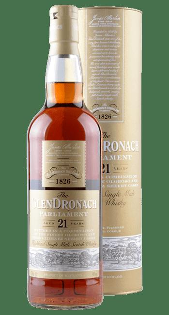 Glendronach - Parliament - 21 Years -  Highland Single Malt Scotch Whisky - 0,7 Liter   Glendronach   Schottland