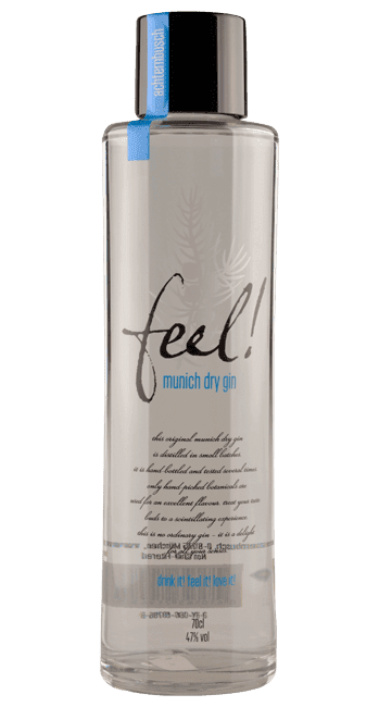Feel! - Munich Dry Gin -  Bayern - Deutschland - Bio - Vegan - 0,5 Liter | Feel! Munich Dry Gin | Deutschland