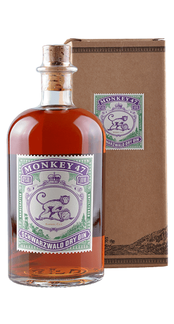 Monkey 47 - Schwarzwald Dry Gin - Unfiltered Barrel Cut - Deutschland - 0,5 Liter | Black Forest Distillers | Deutschland