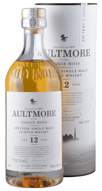 Aultmore - 12 Years -  Speyside Single Malt Scotch Whisky - 0,7 Liter | Aultmore Distillery | Schottland