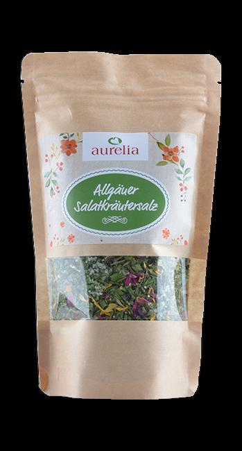 Aurelia - Salatkräutersalz  -Westallgäu - Deutschland - 200g   Aurelia Allgäuer Naturprodukte   Deutschland