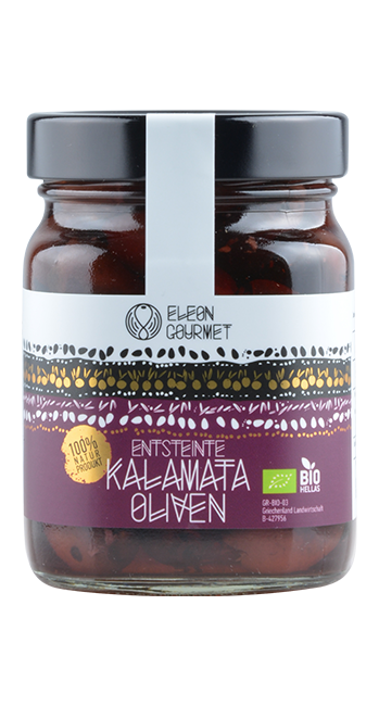 Kalamata Oliven (entsteint) - 360g - Griechenland   Eleon Gourmet   Griechenland
